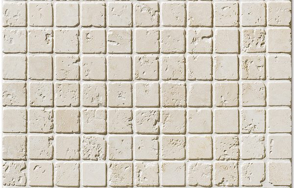 "1""x1"" İvory Tumbled Travertine"