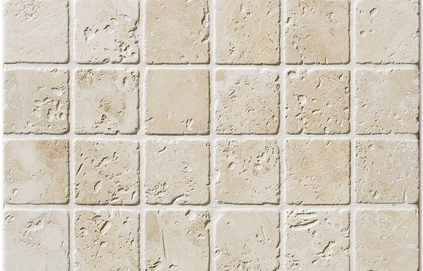 "2""x2"" İvory Tumbled Travertine"