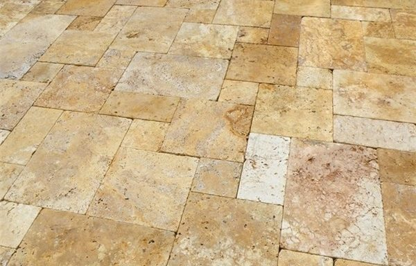 Gold Tumbled Travertine