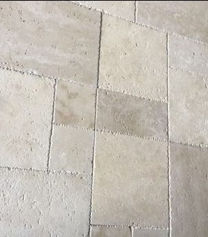 Light Select French Pattern Brushed & Chiseled Travertine