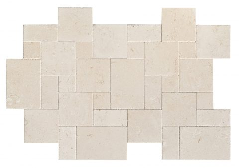 Shell Reef Limestone French Pattern Tumbled Set